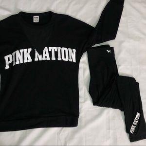 vs pink matching set! 🖤
